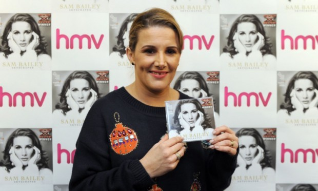 X Factor winner Sam Bailey has secured the Christmas number one spot.