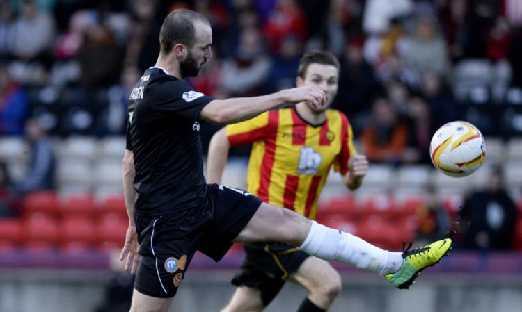 James McFadden scores the third goal for Motherwell.