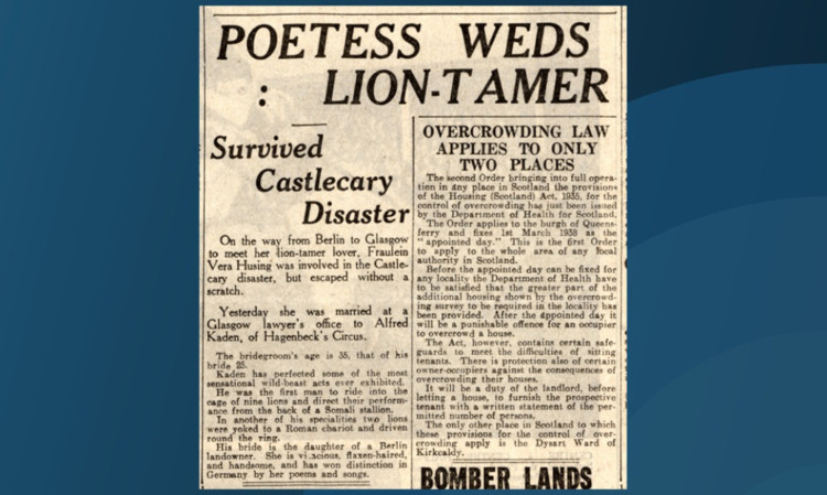 The Courier report from 1938.