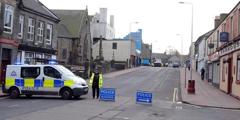 Road closed in Lochgelly