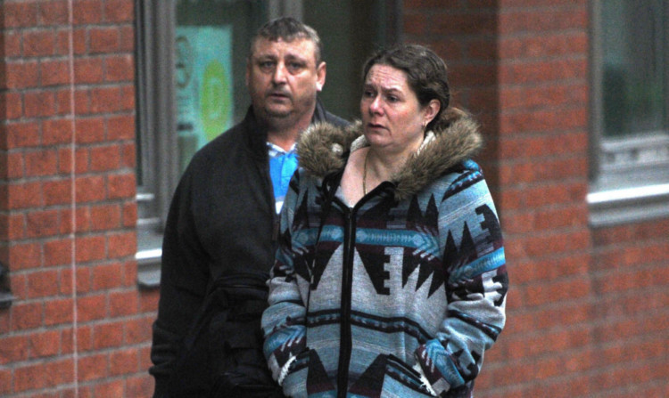David and Donna Rooke arrive at Sheffield Crown Court.