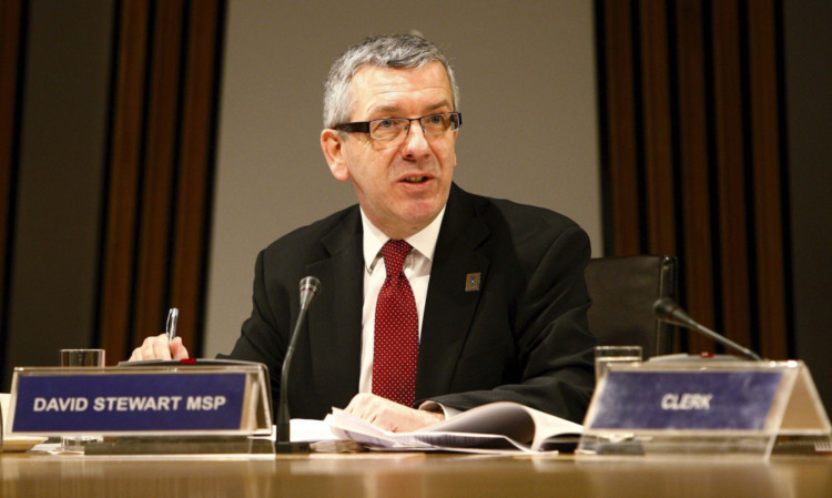 Committee Convener David Stewart MSP pictured as The Public Petitions Committee launches its report on tackling child sexual exploitation in Scotland.