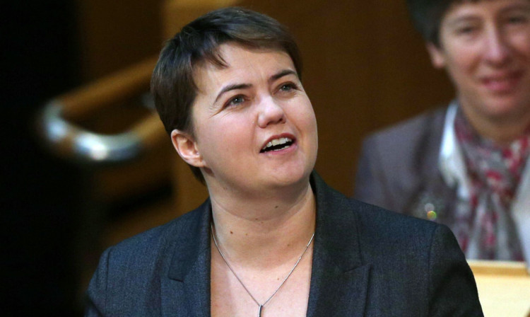 Ruth Davidson was warned by the presiding officer.