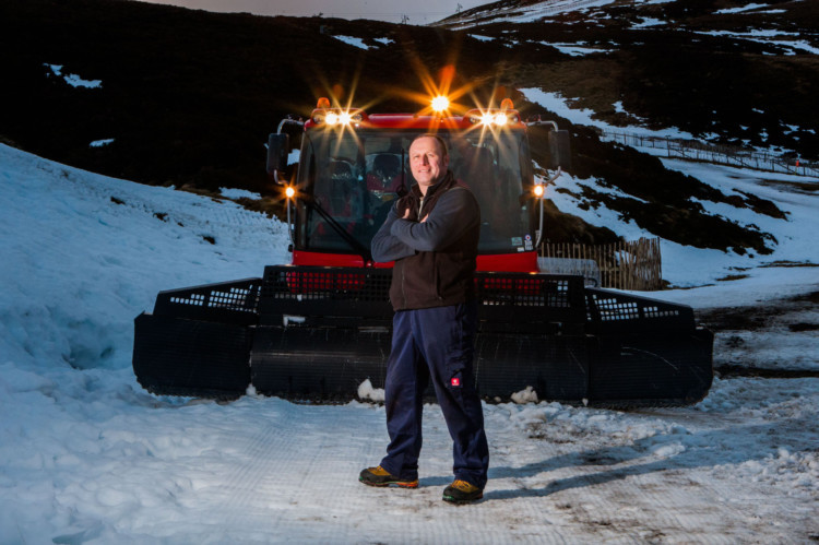 The Courier got its thermals on to meet the characters who make sure everything runs smoothly at Glenshee, the UKs biggest ski centre.  Stewart Fraser is shown alongside the Pisten Bully 600 piste machine. To read Jack McKeowns in-depth feature, see the Weekend magazine in Saturdays Courier.