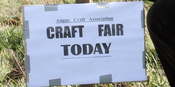 Geoff Riley, Chairman of Angus Crafters Association was dismayed to find a large number of roadside signs advertising the weekends event at Letham were removed.