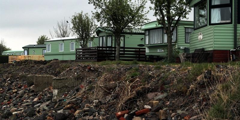 John Stevenson. Courier. 19/04/12. Fife, Tayport. Craig Smith story on coastal erosion. Pics show the Tayport Links Caravan Park .