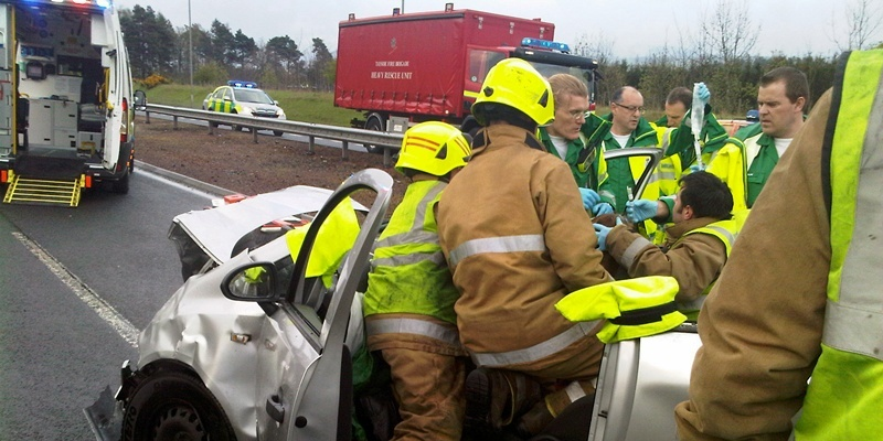 Submitted picture of Auchterarder A9 accident – words from Perth.