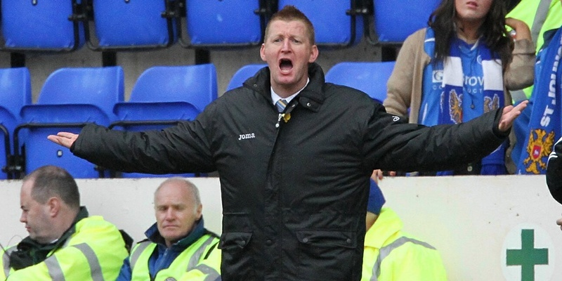 Gareth Jennings , St Johnstone v Dundee Utd, ,  Lomas makes a point about time wastin by utd