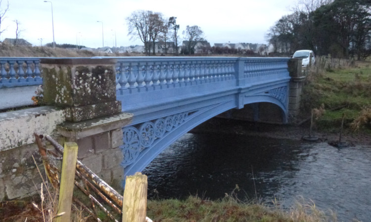 The restored bridge.