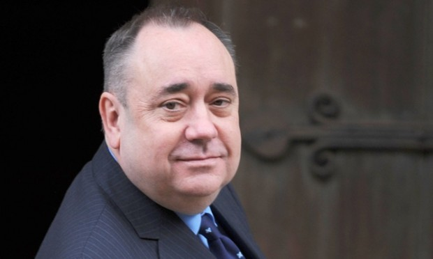 Scottish First Minister Alex Salmond arrives at the High Court in central London to give evidence to the Leveson Inquiry into press standards.
