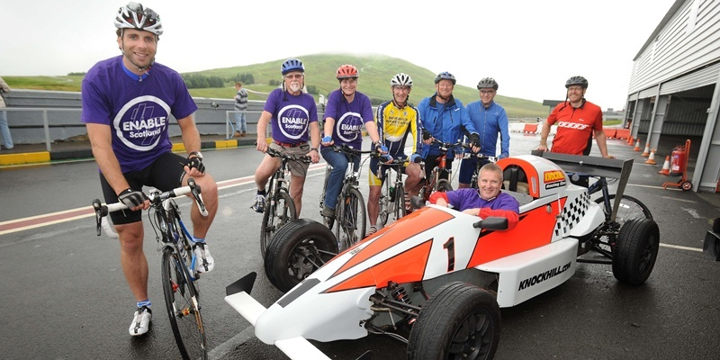 Mark Beaumont at Knockhill ENABLE Scotland event launch