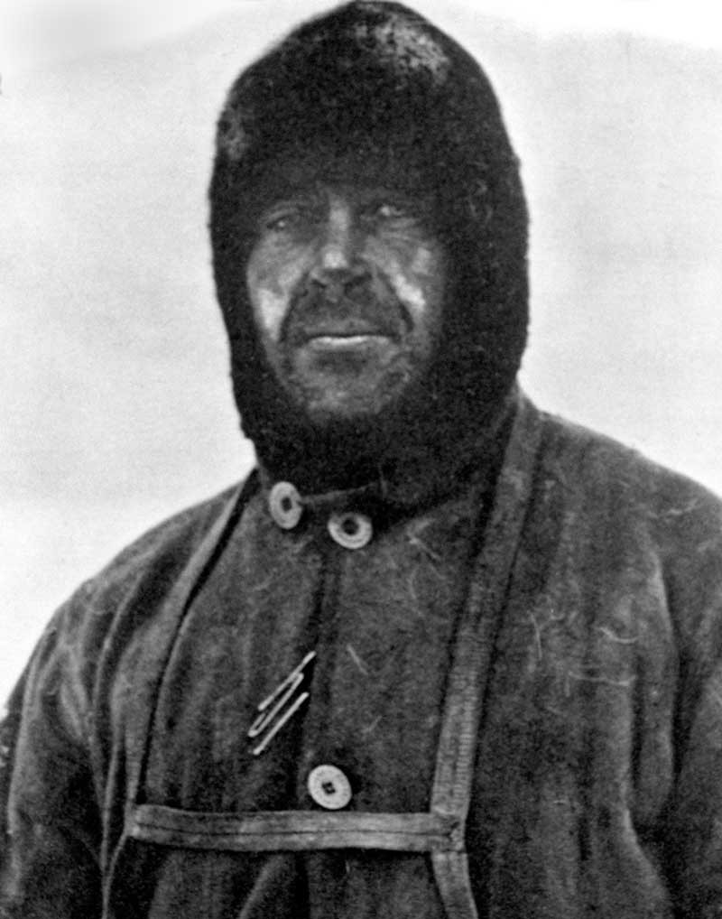 Captain Robert Falcon Scott, leader of the ill-fated Terra Nova Expedition to the South Pole. Scott led a party of five which reached the South Pole on 17 January 1912, only to find that they had been preceded by Roald Amundsen's Norwegian expedition. On their return journey, Scott and his four comrades all perished.