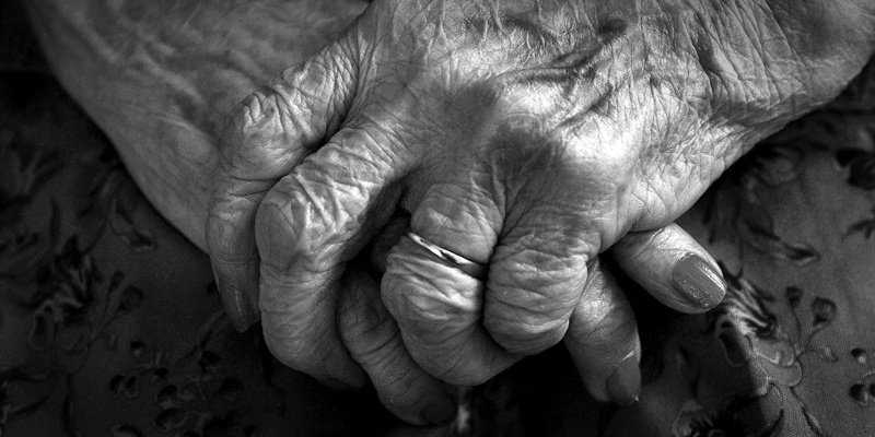 File photo dated 05/12/08 of the hands of an elderly person as people can smell age, a study has shown.