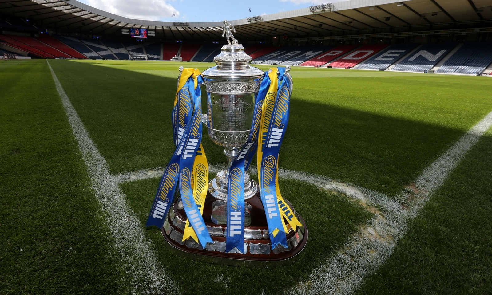 The William Hill Scottish Cup is displayed during a photocall at Hampden Park, Glasgow. Celtic will face Hibernian in the 2013 William Hill Scottish Cup Final on Sunday.