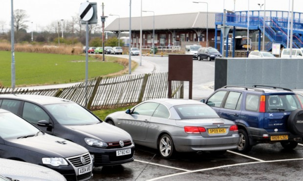 The car park at Leuchars railway station.