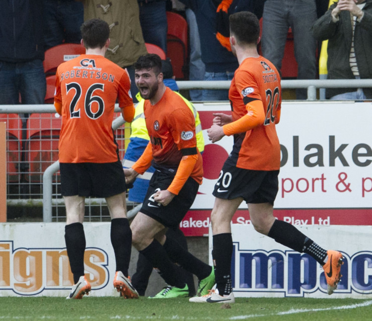 Goalscorer Nadir Ciftci (centre) is just one of the United player Rangers should fear.