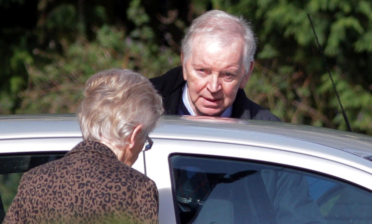 Convicted wife beater Bill Walker with his fourth wife June at their country home near Alloa.