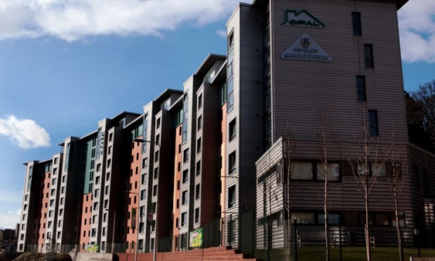 The Opal accommodation blocks in Dundee.