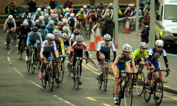 Cyclists taking part in the GB Youth Cycling Tour Boys.