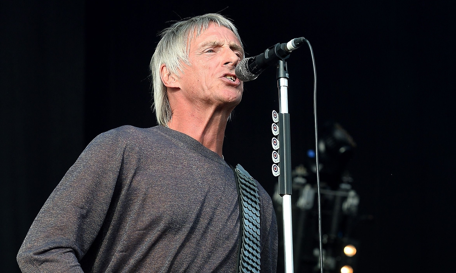 Paul Weller performs on stage at the Hard Rock calling music festival at Queen Elizabeth Olympic Park in Stratford east London.