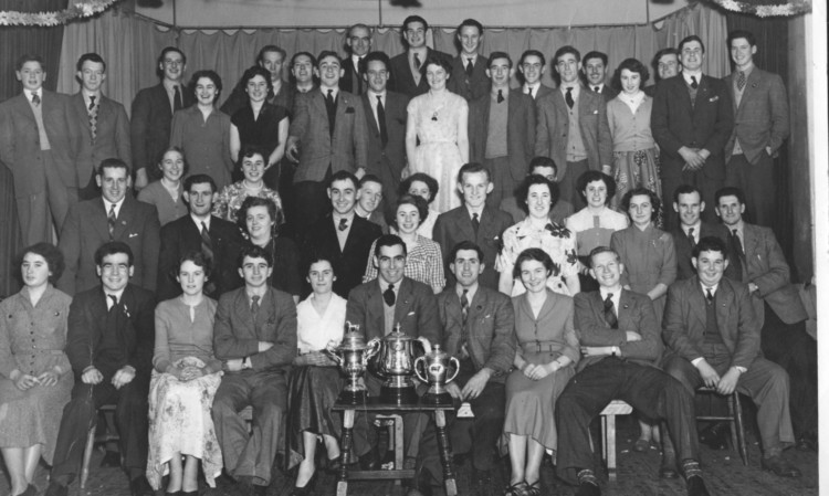 The photo of Bell Baxter ADS Christmas celebrations at Kemback Hall in 1954.