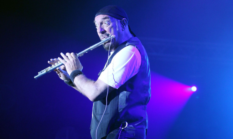 Ian Anderson with his trademark flute.