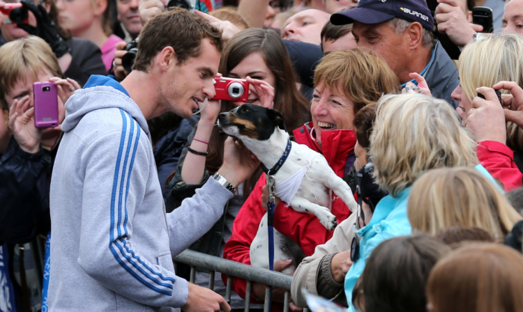 Crowds lined the streets of Andy Murray's hometown during his homecoming in 2012.