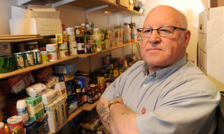 Major Jim McCluskey tells some would-be foodbank users to reconsider their priorities.