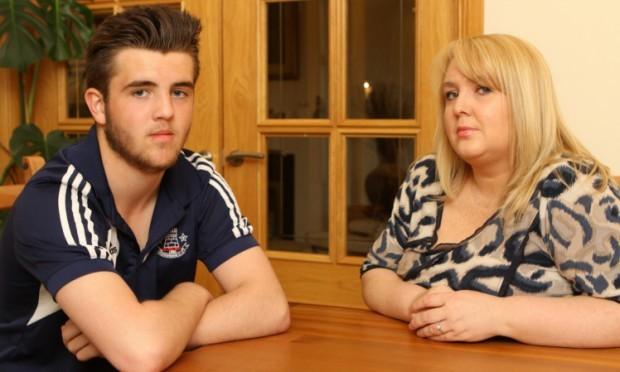 Jack and mum Louise.
