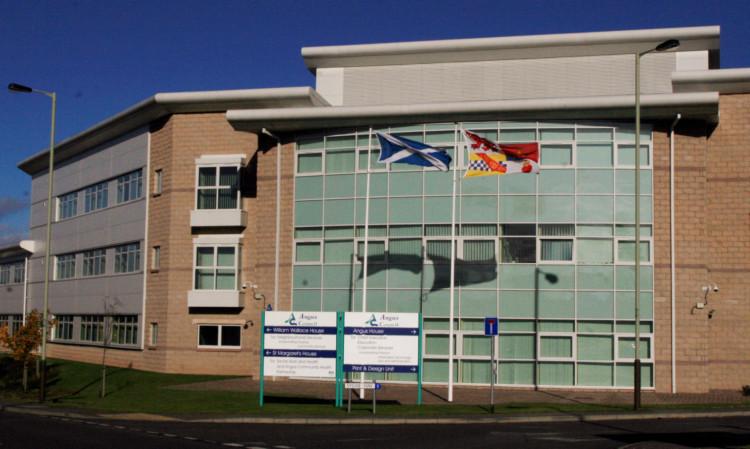 Angus Council HQ at Orchardbank, Forfar.
