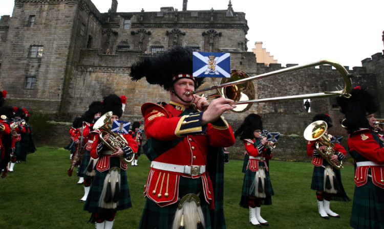 The Band of the Royal Regiment of Scotland at the launch of the National Armed Forces day at Stirling Castle earlier this year.