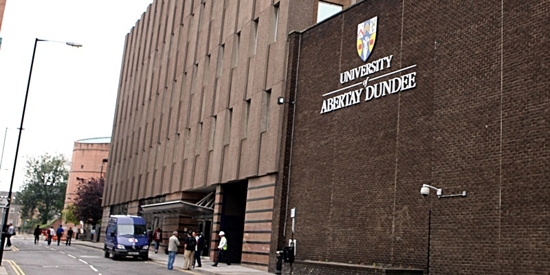 Building exterior of Abertay University, Dundee.