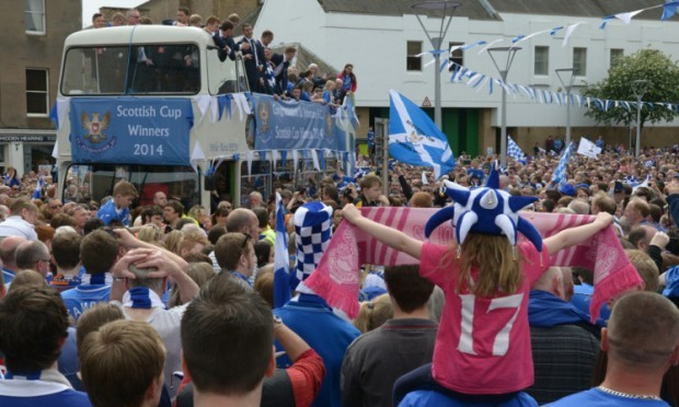 Thousands turned out to welcome St Johnstone's cup heros back to Perth at the weekend.