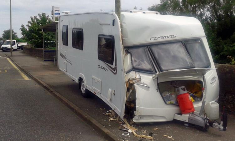 Runaway caravan careers into lamp post in broughty ferry for 12 terrace road post office