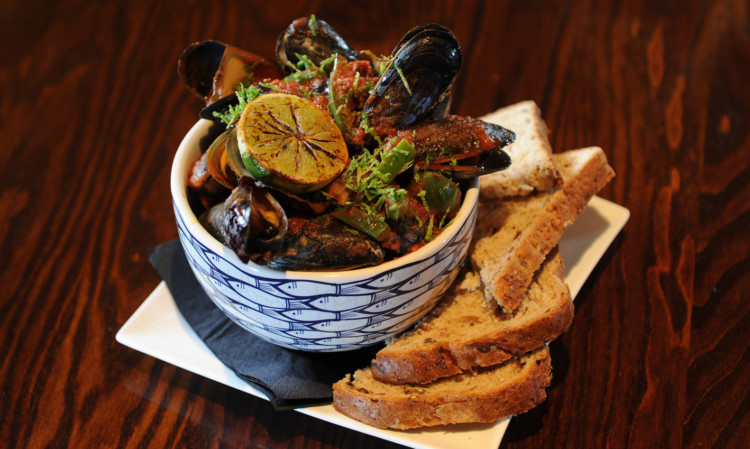 Bloody Mary mussels.