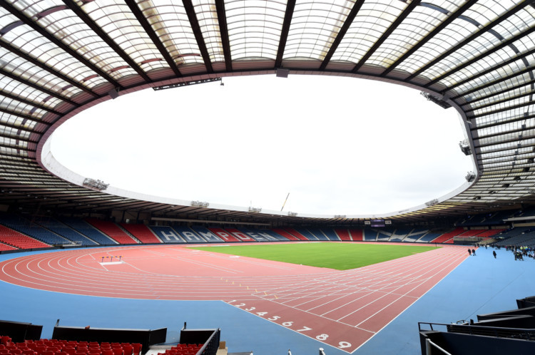 The transformation of Hampden Park ahead of Glasgows Commonwealth Games is now complete. The national football stadium has been turned into a world-class athletics arena ahead of the event in August.