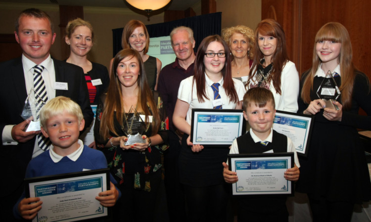 The principal award winners from the event.