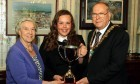Winner Erin Findlay with Burgess charity trustee Margaret Hutton and Lord Provost Bob Duncan.