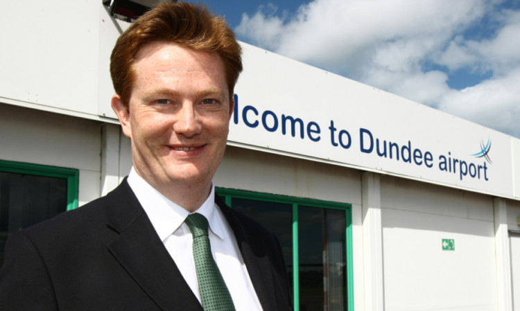Danny Alexander in Dundee on Wednesday.