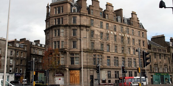 Building exterior of The Tay Hotel, Dock Street, Dundee.