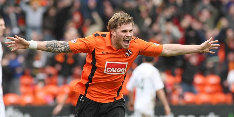 Kim Cessford, Courier - 13.03.11 - Scottish Cup Round 6 tie, Dundee United v Motherwell at Tannadice - David Goodwillie (United) celebrates United's first goal