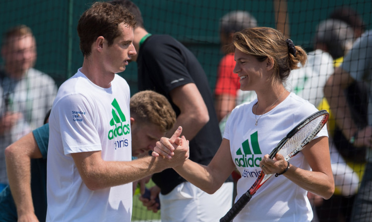 Andy Murray and coach Amelie Mauresmo during the build-up to this years Wimbledon.