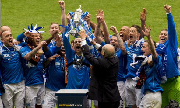 St Johnstone won the Scottish Cup for the first time in their history in May.