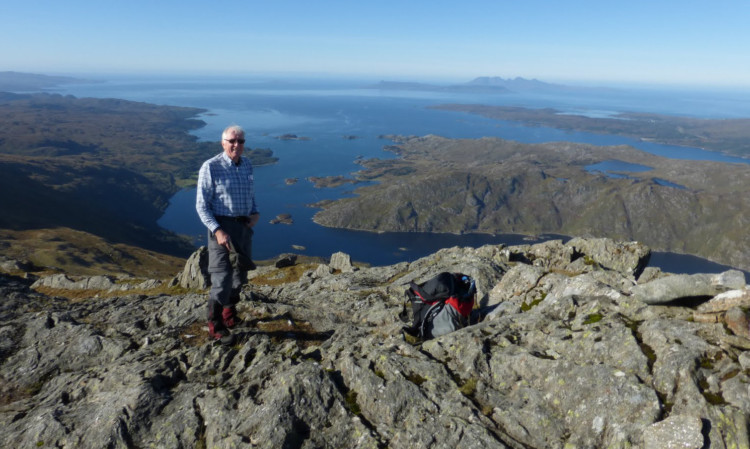 Neil Macnair is a seasoned walker and climber, and will be the oldest Yomper this weekend.