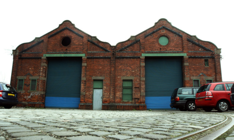 The former Maryfeld Tram Depot in Stobswell.