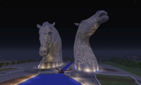 The Falkirk Kelpies have made an appearance in the latest Minecraft update.