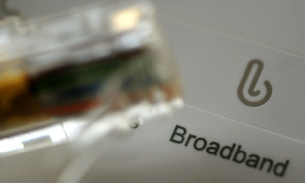 General view of broadband sign on a router. PRESS ASSOCIATION Photo. Picture date: Tuesday November 12, 2013. See PA story TECHNOLOGY SKY. Photo credit should read: Rui Vieira/PA Wire