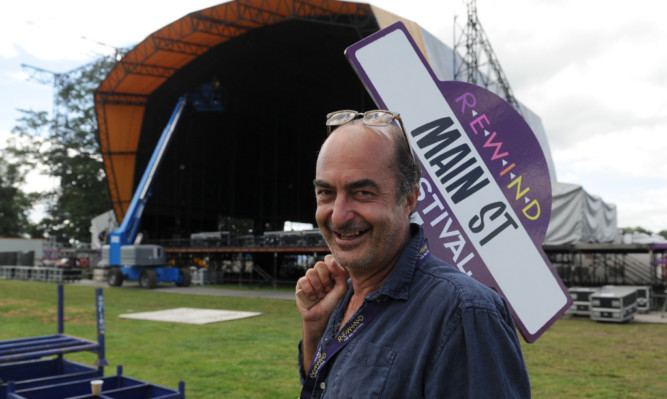 Organiser David Heartfield helping to set up the festival site on Thursday.