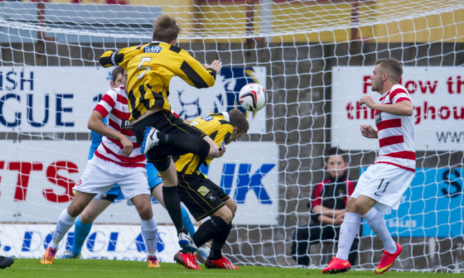 East Fife captain Stevie Campbell fires his side into the lead.