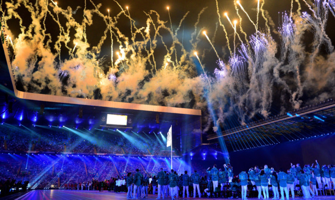 Thousands in the stadium and countless millions around the world watched the opening ceremony in Celtic Park.